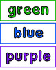 Adjective Word Cards -- Color Words
