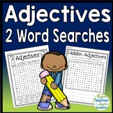 Adjective Word Search: Two Word Searches included   {A FUN Adjective Activity}