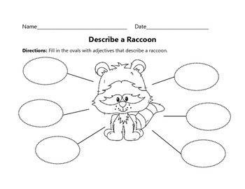 Adjective Worksheets : Animal Theme