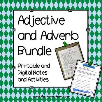 Adjectives and Adverbs Grammar Bundle