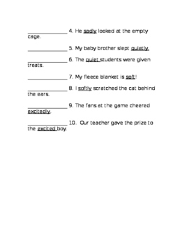 Adjective and Adverb Assessment