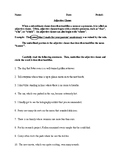 Adjective and Adverb Clauses - Informative Handouts & Exer
