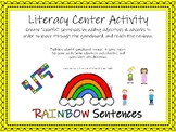 Adjective and Adverb Game - Rainbow Sentences