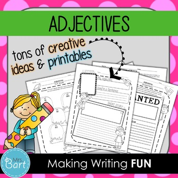 Adjectives Unit {Creative & Hands-On Activities}
