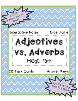 Adjective and Adverb Mega Pack