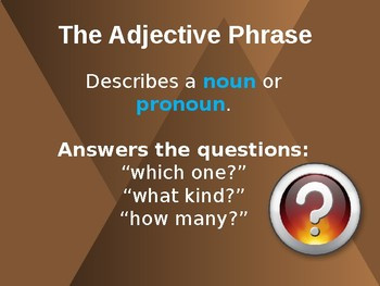 Adjective and Adverb Phrases/Prepositional Phrases