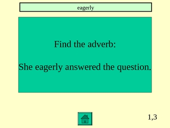 Adjective and Adverb PowerPoint Jeopardy Game