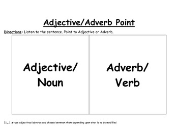 Adjective and Adverb Practice-EDITABLE! (second grade)