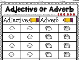 Adjective and Adverb Sorting Worksheet