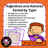 Adjective and Adverb Sorts