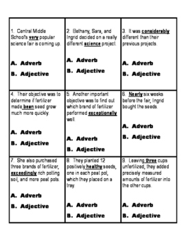 Adjective and Adverb Stations
