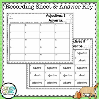 Adjectives and Adverbs Task Cards #1