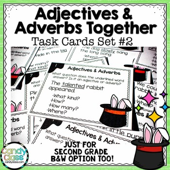 Adjective and Adverb Task Cards #2