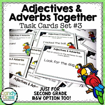 Adjective and Adverb Task Cards #3