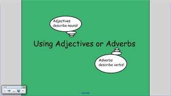 Adjective and Adverbs SMART Notebook
