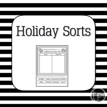 Adjective and Noun Holiday Sort