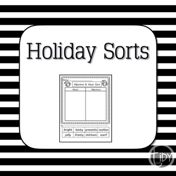 Adjective and Noun Holiday Sort