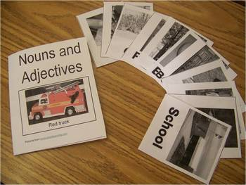 Adjective and Noun Pocket Portfolio sorting activity