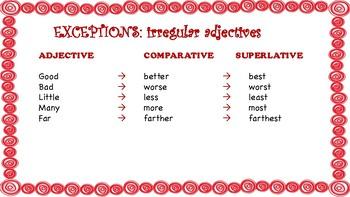 Adjective comparison