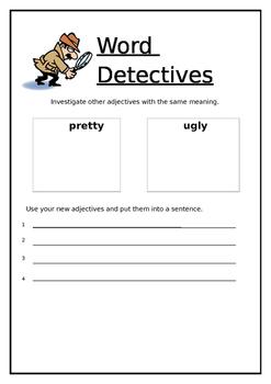 Adjective detective sheet!