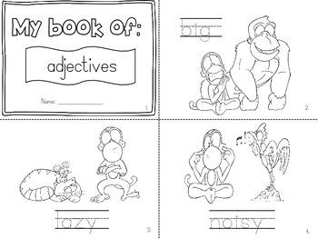 Adjective mini books