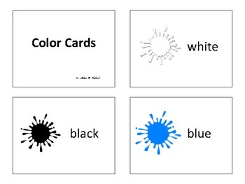 Adjective of Color Lesson Plan