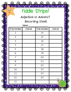 Adjective or Adverb? A Fiddle Strips! Game