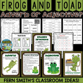 Frog and Toad Adjective or Adverb?  Task Cards, Center Game and More