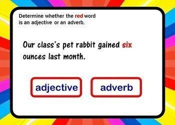 Adjective or Adverb? BOOM Cards - 24 Self-checking cards!