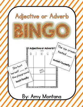 Adjective or Adverb Bingo