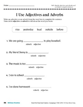 Adjective or Adverb? (Take It to Your Seat Centers: Common Core Language)