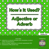 How's It Used? Adjective or Adverb