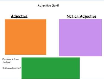 Adjective sort