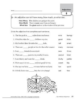 Adjectives 02: Descriptive and Quantitative Adjectives