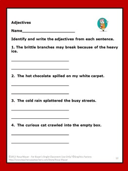 A Best-Selling Adjectives task Cards & Worksheet for Scoot or Centers