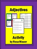 Adjectives Task Cards and Worksheets