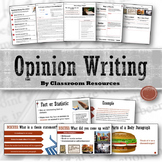 Opinion Writing Unit FREE Sample Lessons