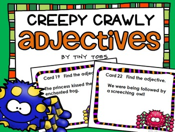 SCOOT Silly Spider Adjectives task cards