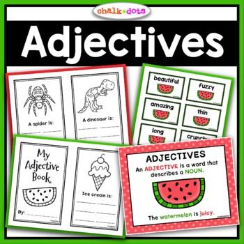 Adjectives Unit - Printables, Writing Activities, Mini Boo