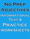 Adjectives Worksheet Adjectives Writing Adjectives Literacy Centers