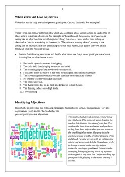 Adjectives: Student Activities and Handouts + Answer Key