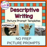 Descriptive Writing Graphic Organizer | Picture Prompt Writing | ANIMALS