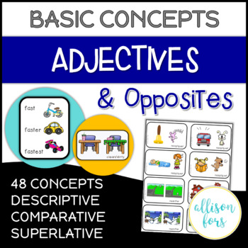 Adjectives & Opposites NO PREP Worksheets