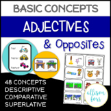 Adjectives and Opposites Worksheets | Speech Therapy | NO PREP