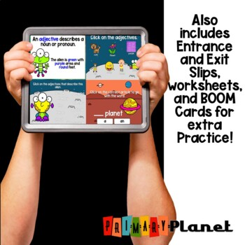 Adjective Worksheets, posters, and games!