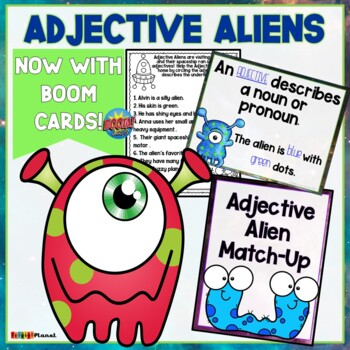 Grammar Parts of Speech Adjectives Worksheets Posters and Games