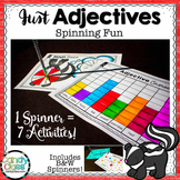 Adjective Games {3 Spinners with Each Spinner Equaling 7 Activities}