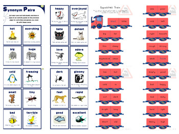 Adjectives Pair Cards