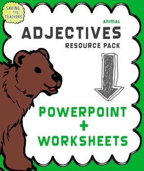 Adjectives Powerpoint and Worksheets / Activities