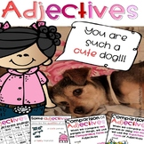 Parts of Speech - Adjectives Work with Posters, Cards, Booklet and Crafts
